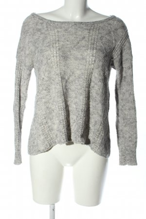 american eagle Knitted Sweater light grey flecked casual look