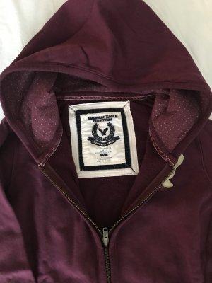 American Eagle Outfitters Sweatshirt met capuchon bordeaux