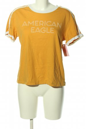 american eagle T-shirt licht Oranje-wit gedrukte letters casual uitstraling