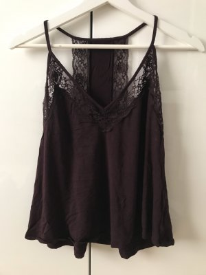 American Eagle Outfitters Lace Top brown violet
