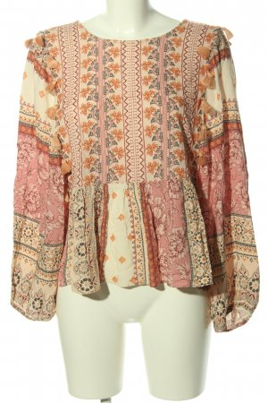 american eagle Tunic Blouse themed print casual look