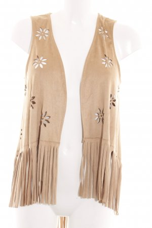 American Rag CIE Fringed Vest natural white casual look