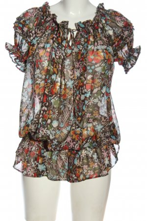 American Rag CIE Short Sleeved Blouse allover print casual look