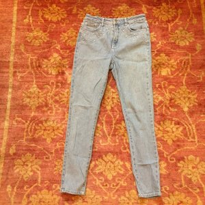 American Retro Jeans slate-gray-azure cotton