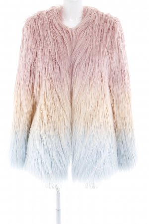 American Retro Fur Jacket color gradient '90s style