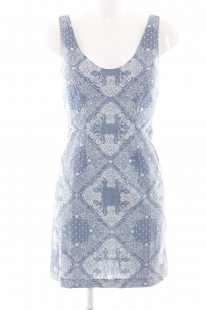 American Retro Jersey Dress blue-natural white allover print casual look