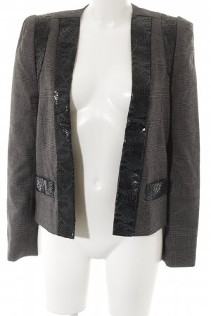 American Retro Blazer court gris-noir motif animal style d'affaires