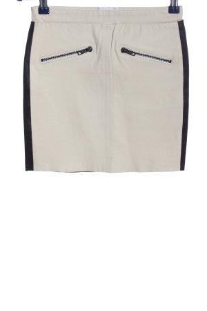 American Retro Skórzana spódnica w kolorze białej wełny-niebieski