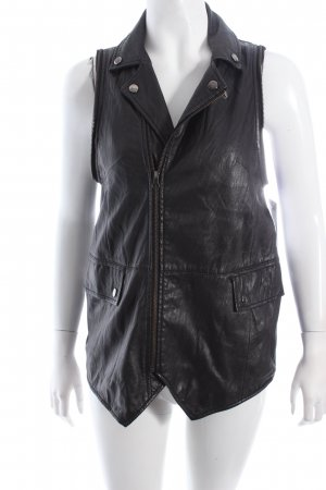 American retro Leather Vest black biker look