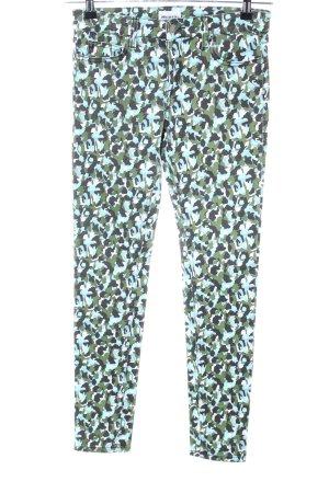 American Retro Jeans skinny motif de camouflage style décontracté