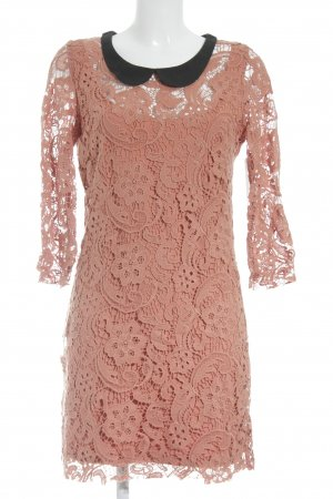 American Retro Lace Dress dark orange-black