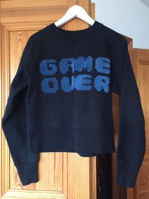 American Retro Sweatshirt zwart-donkerblauw