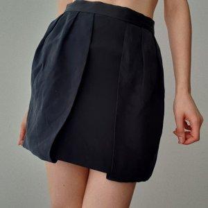American Retro Tulip Skirt black silk