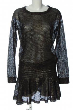 American Retro Woven Twin Set black-gold-colored wet-look