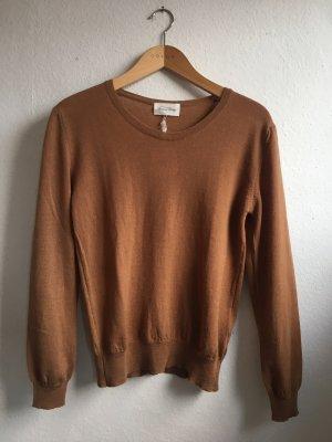 American Vintage Knitted Sweater brown merino wool
