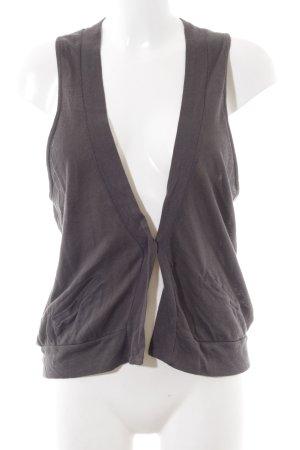 American Vintage V-Ausschnitt-Shirt anthrazit Casual-Look Baumwolle