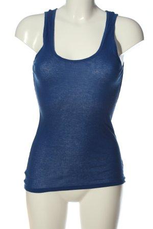 American Vintage Basic Top blue flecked casual look