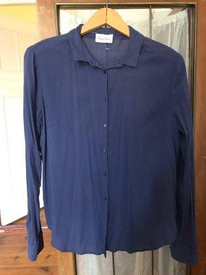 American Vintage Bluse/ Hemd, blau/ lila, Gr. S, 34/ 36