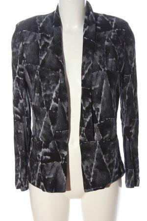 American Vintage Blusenjacke hellgrau-schwarz abstraktes Muster Casual-Look