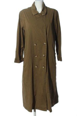 American Vintage Długi płaszcz khaki W stylu casual
