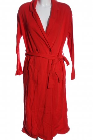 American Vintage Abrigo largo rojo look casual