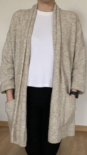 American Vintage Cardigan tricotés beige clair-blanc cassé