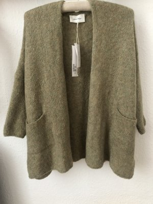 American Vintage Grof gebreid vest groen-grijs Wol