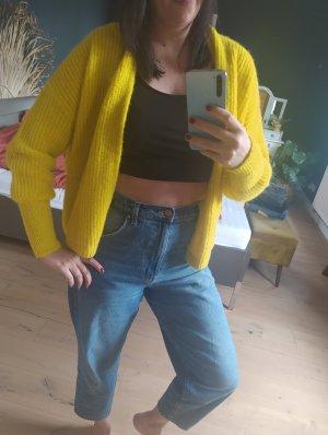American Vintage Cardigan gelb Strick Knit