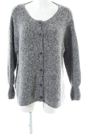 American Vintage Cardigan grau-hellgrau meliert Casual-Look