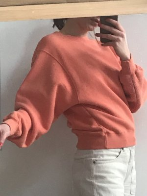 American Vintage Bluza dresowa jasnoczerwony-łosowiowy Bawełna
