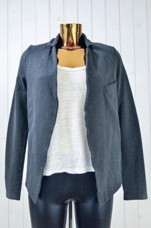 American Vintage Jersey blazer donkergroen-antraciet Katoen