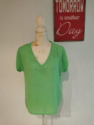 American Vintage Camisa tipo túnica verde neón