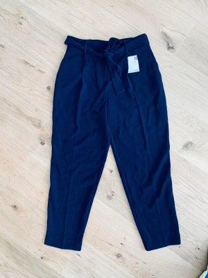 American Vintage Bandplooibroek blauw Polyester