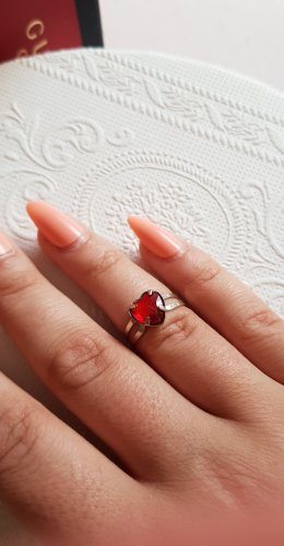 American Vintage etsy Ring rotes herz