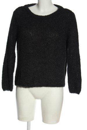 American Vintage Szydełkowany sweter jasnoszary Warkoczowy wzór W stylu casual