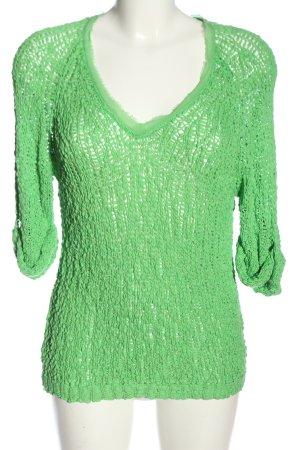 American Vintage Szydełkowany sweter zielony W stylu casual