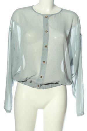American Vintage Camicia blusa bianco-blu motivo astratto stile casual