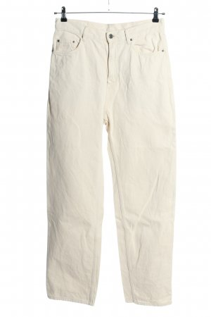 American Vintage Jeans taille haute crème style décontracté