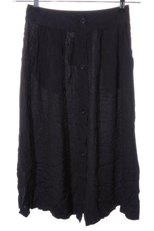 American Vintage Falda de talle alto negro look casual