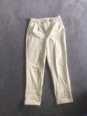 American Vintage Boyfriend Trousers oatmeal-pale yellow