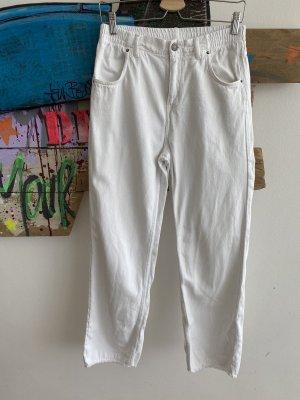 American Vintage Jeans a gamba dritta bianco