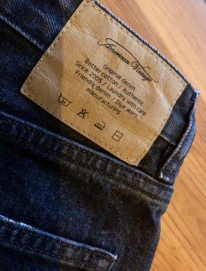 American Vintage Hoge taille jeans antraciet