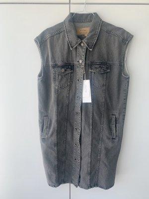 American Vintage Robe en jean gris coton