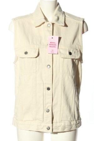 American Vintage Gilet en jean crème style décontracté