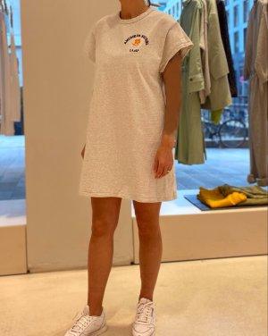 American Vintage T-shirt jurk lichtgrijs