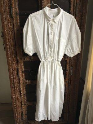 American Vintage Robe à manches courtes blanc coton