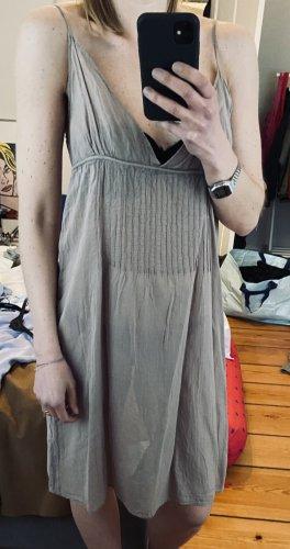 American Vintage Letnia sukienka szaro-brązowy