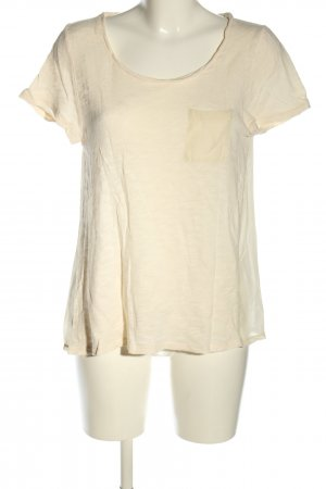 American Vintage Kurzarm-Bluse creme Casual-Look