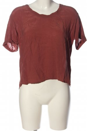 American Vintage Kurzarm-Bluse rot Casual-Look