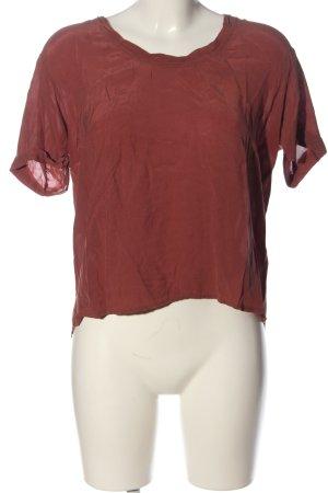 American Vintage Short Sleeved Blouse red casual look